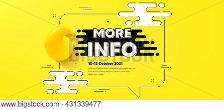 More Info Text. Quote Chat Bubble Background. Navigation Sign. Read Description Symbol. More Info Qu