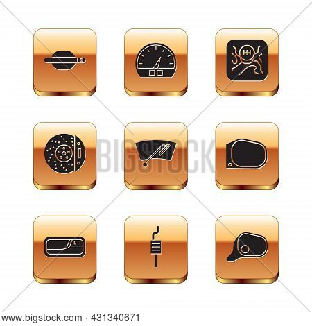 Set Car Door Handle, Muffler, Windscreen Wiper, Brake Disk With Caliper, Gear Shifter, Mirror And Sp