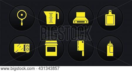 Set Microwave Oven, Cutting Board, Jam Jar, Meat Chopper, Kitchen Extractor Fan, Measuring Cup, Sauc