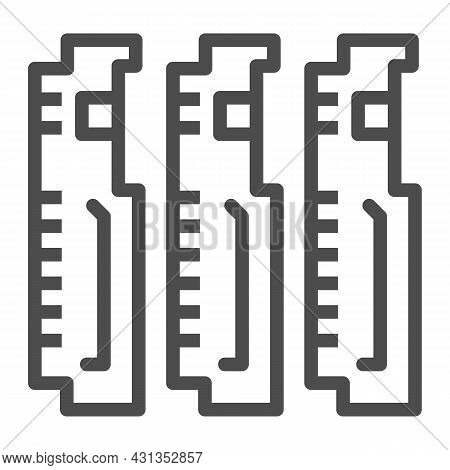 Compact Pcb Three Part Line Icon, Electronics Concept, Printed Circuit Board Fragment Vector Sign On