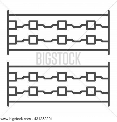 Simple Printed Circuit Boards Layout Thin Line Icon, Electronics Concept, Simple Pcb Vector Sign On