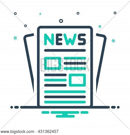 Mix Icon For Publication News Release Issue Puffery Publicity Display Newspaper Article Magazine