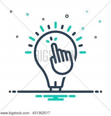 Mix Icon For Inspire Stimulate Encourage Motivate Solution Concept Click Creative