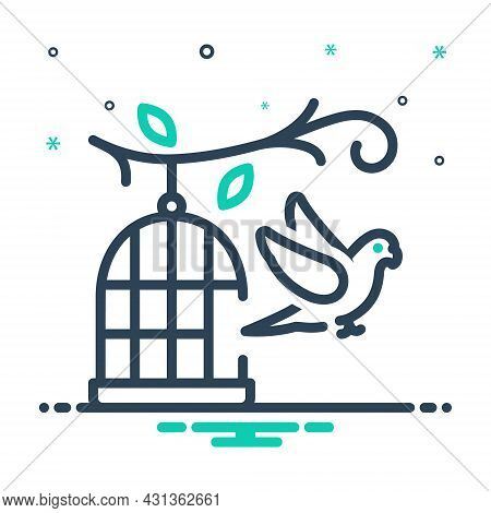 Mix Icon For Parrot-outside-of-cage Parrot Birdcage Hang Pet Feather Outside Birds Freedom Fly Liber