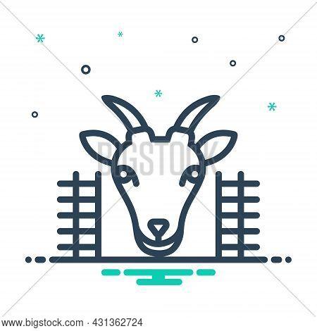 Mix Icon For Goat-in-pen Goat Pen Animal Cattle Domestic Farm Hoof Lamb Mammal