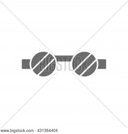 Welder Safety Glasses, Eye Protection Grey Icon.