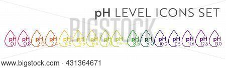 Ph Value Scale Icons. Acid-base Balance Infographic. Education Poster