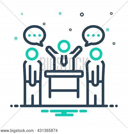Mix Icon For Persuade Coax Agree Commemorate Convince Agreement Discussion Glad Delighted