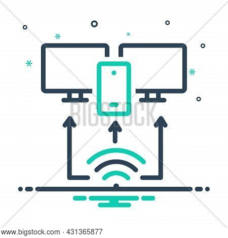 Mix Icon For Provision Arrangement Plan Providing Access Network Technology Management Wifi