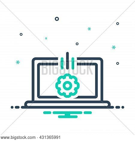 Mix Icon For Develop Grow Expand Spread Software Progress Development Electronic Programming