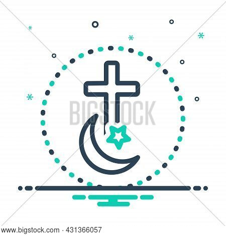 Mix Icon For Religion Faith Denomination Creed Church Ritual Morality Islam