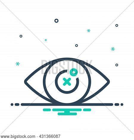 Mix Icon For Blind Eye Blindness Retina Optical Sightless Viewless Eyeless