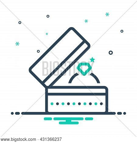 Mix Icon For Ring-with-box Ring Jewelry Proposal Gift Love Luxury Precious Romance Present Valentine