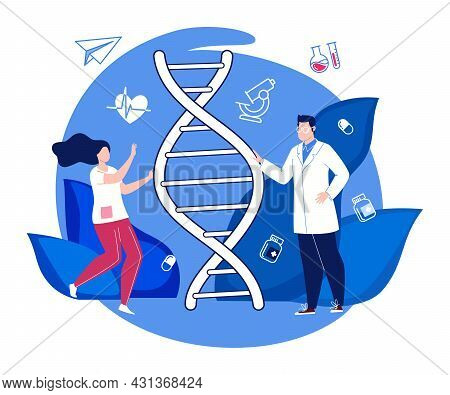 Medicine. Medical Science And Biotechnology. Scientific Research In The Field Of Genetic Engineering
