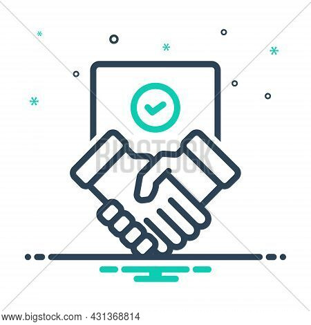 Mix Icon For Settlement Partnership Commitment Agreement Deal Handshake Cooperation Business Collabo