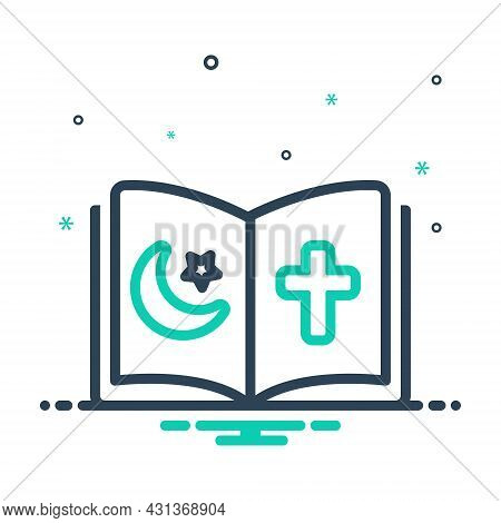 Mix Icon For Religious Holy Pray Virtuous Christian Book Holy-book Devotional Faith-based