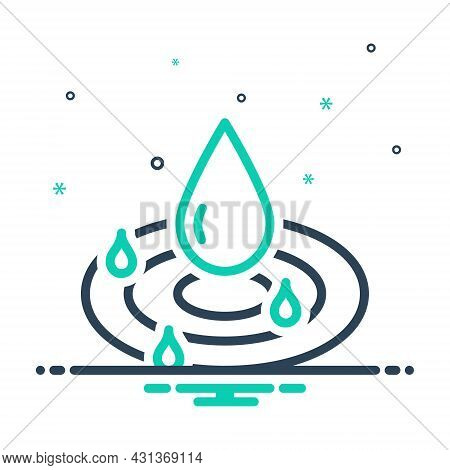 Mix Icon For Pure Drop Droplet Water Clean Drinkable Fresh Beverage Nature