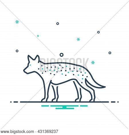 Mix Icon For Hyena Danger Mammal Carnivorous Nature Animal Jungle Wildlife Zoo