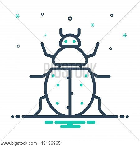 Mix Icon For Ladybug Bettle Herbivore Insecticide Ladybird Dor Bug Bedbug Chinch Dirty Critter Preju