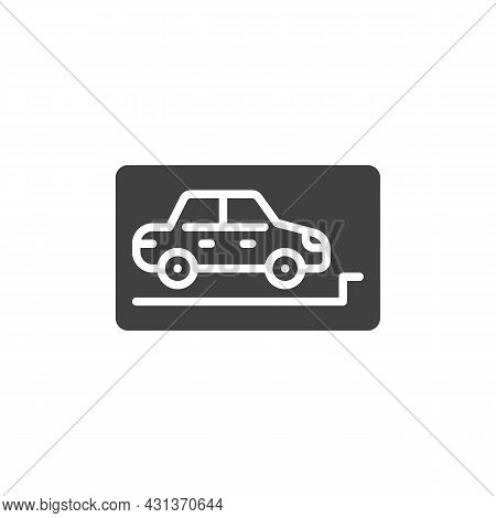 Parking Zone Vector Icon. Filled Flat Sign For Mobile Concept And Web Design. Car Parking Glyph Icon