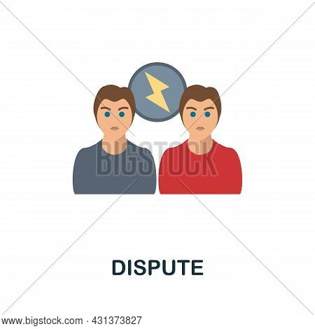 Dispute Flat Icon. Colored Sign From Personality Collection. Creative Dispute Icon Illustration For