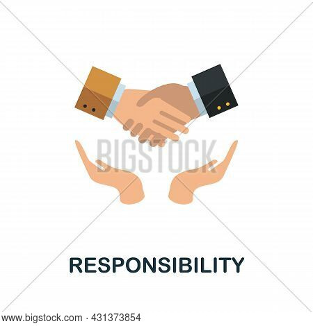 Responsibility Flat Icon. Colored Sign From Personality Collection. Creative Responsibility Icon Ill