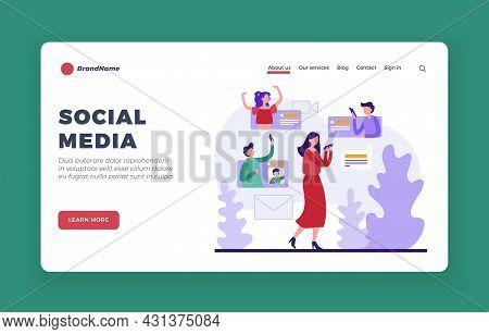 Social Media Resources. Online Communication With Watching Video Materials. Virtual Company For Dati