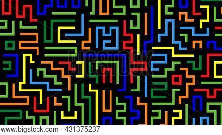 Colorful Labirin Traps High Res Image Bg