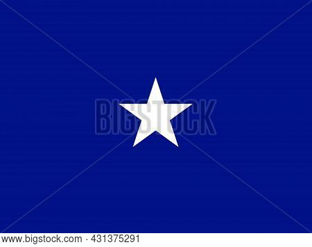 The Flag Of A Usa Airforce Brigadier General Of A White Star Over A Blue Background