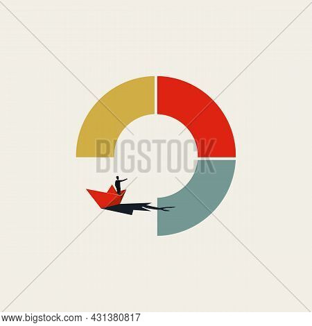Business Market Entry Straregy Vector Concept. Symbol Of Expansion, Challenge, Growth Opportunity. M