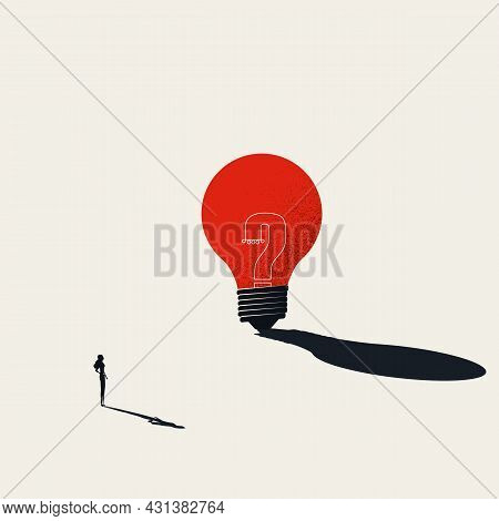 Brainstorming And Business Creativity Vector Concept. Symbol Of Creative Thinking, Innovation. Minim