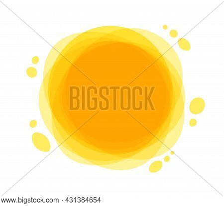 Bright Summer Sun Is At Its Zenith. Sun Rays Icon Yellow. Funny Vector Doodle Suns.