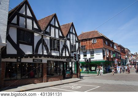 Views Of Crane Street In Salisbury, Wiltshire In The Uk, Taken 16th June 2021