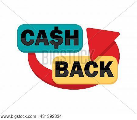 Cash Back Banner. Cashback Concept. Vector Illustration.