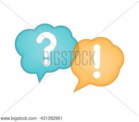 Question Mark. Answer Sign. Speech Bubble. Faq Sign. Vector Illustration.
