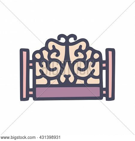 Forged Fence Color Vector Doodle Simple Icon