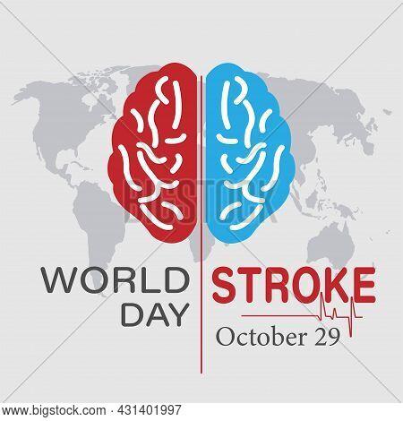 Vector Illustration On The Theme World Stroke Day.