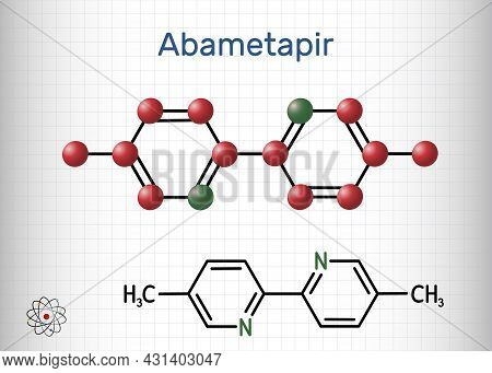Abametapir Molecule. It Is Used To Treat Infestations Of Head Lice, Pediculus Capitis. Structural Ch