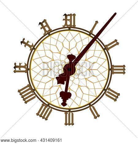 A Detailed Illustration Of The Big Ben Clock Face And Minute And Hour Hands