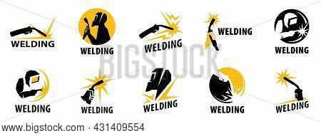 Vector Logo Of The Service, Welding Workshop