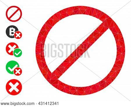 Triangle Forbid Polygonal Symbol Illustration, And Similar Icons. Forbid Is Filled With Triangles. L