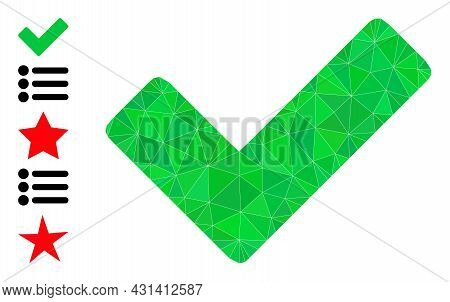 Triangle True Polygonal Symbol Illustration, And Similar Icons. True Is Filled With Triangles. Low-p