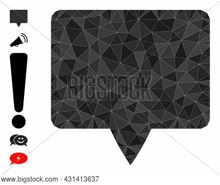 Triangle Banner Polygonal 2d Illustration, And Similar Icons. Banner Is Filled With Triangles. Low-p