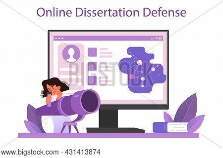 Astronomer Online Service Or Platform. Professional Scientist