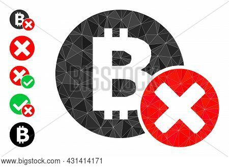 Triangle Reject Bitcoin Polygonal 2d Illustration, And Similar Icons. Reject Bitcoin Is Filled With