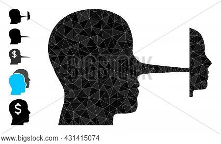 Triangle Liar Mask Polygonal Symbol Illustration, And Similar Icons. Liar Mask Is Filled With Triang