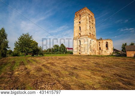 Picturesque Ruins Of Our Lady Of The Rosary Church And Dominican Monastery With Defensive Tower In S