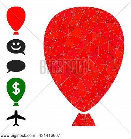 Triangle Celebration Balloon Polygonal Symbol Illustration, And Similar Icons. Celebration Balloon I