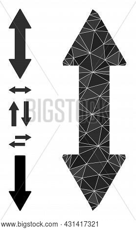 Triangle Vertical Exchange Arrow Polygonal Icon Illustration, And Similar Icons. Vertical Exchange A