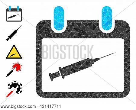 Triangle Vaccination Calendar Polygonal 2d Illustration, And Similar Icons. Vaccination Calendar Is